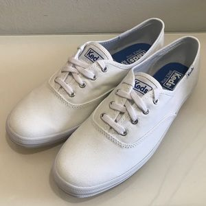 7.5 8W 9 & 10W Keds White Champion Canvas Sneaker
